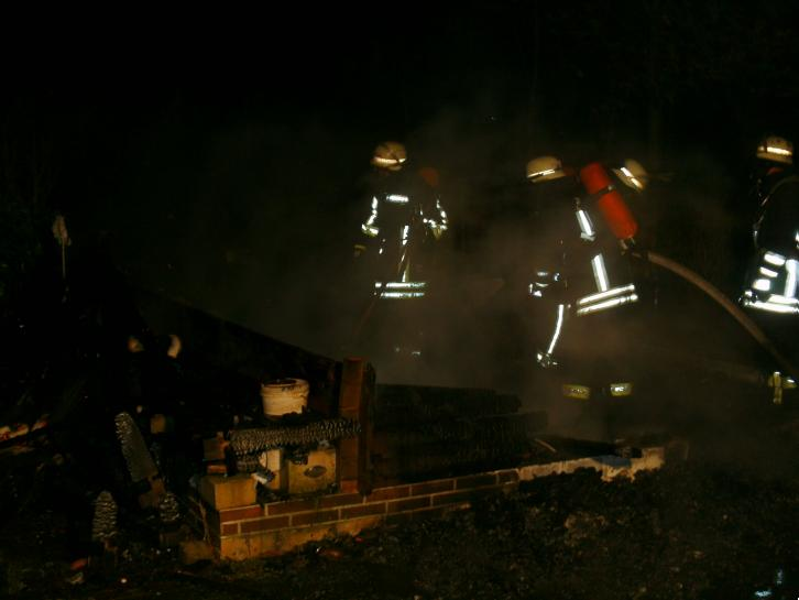 31. Dezember 2012: Laubenbrand